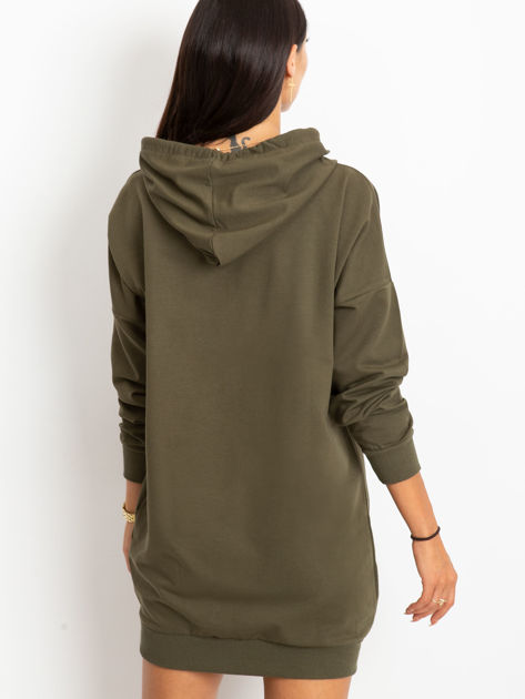 Khaki bluza damska z kapturem                              zdj.                              4