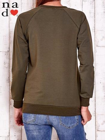 Khaki bluza w serduszka                                  zdj.                                  5