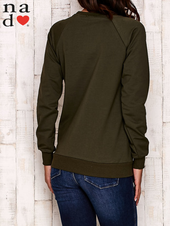 Khaki bluza z motywem Wieży Eiffla                                  zdj.                                  4