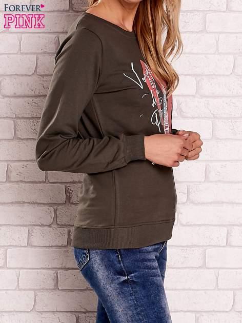 Khaki bluza z motywem paryskim                                  zdj.                                  3
