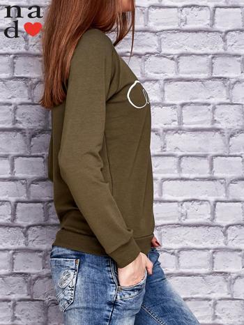 Khaki bluza z napisem LOVE                                  zdj.                                  3