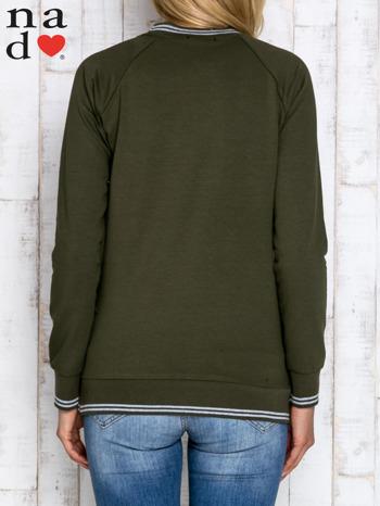 Khaki bluza z napisem SIEMA                                  zdj.                                  4