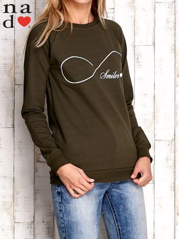 Khaki bluza z napisem SMILER
