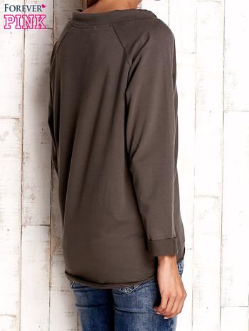 Khaki bluzka z troczkami                                  zdj.                                  3