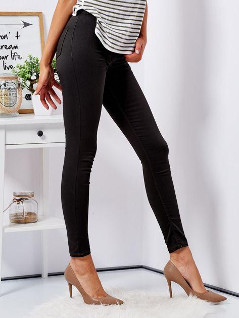 Khaki dopasowane spodnie high waist                              zdj.                              5