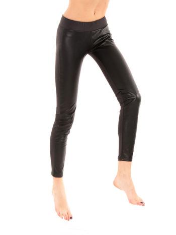 Khaki dwustronne legginsy skórzane                                  zdj.                                  6
