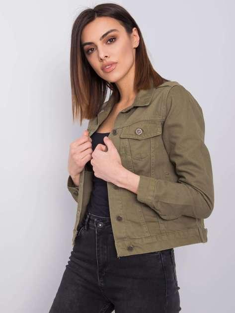 Khaki kurtka jeansowa Kamari RUE PARIS