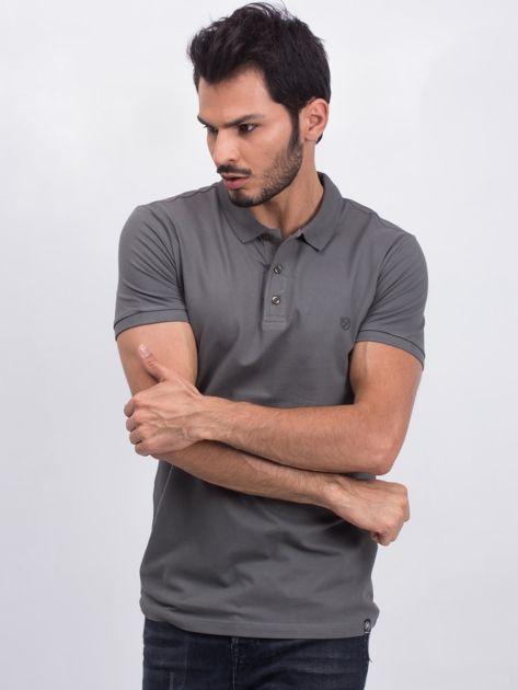 Khaki męska koszulka polo Numerous                              zdj.                              1