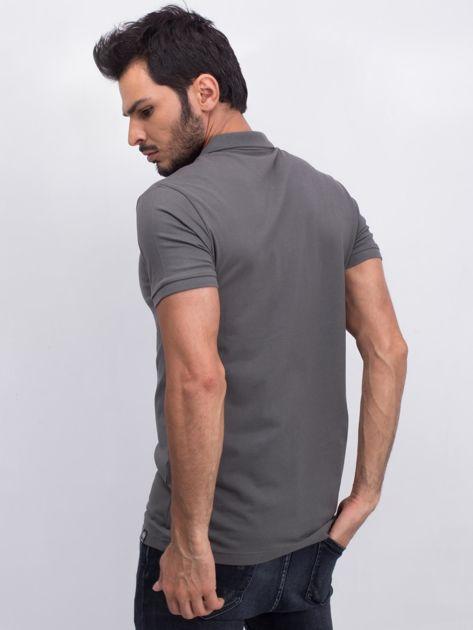 Khaki męska koszulka polo Numerous                              zdj.                              2