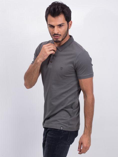 Khaki męska koszulka polo Numerous                              zdj.                              3