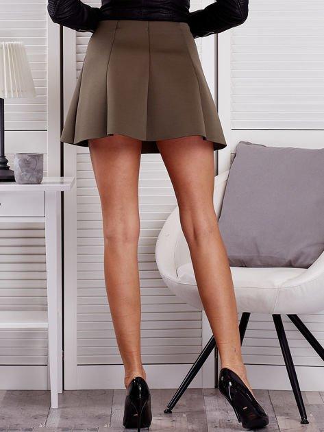 Khaki rozkloszowana spódnica damska                              zdj.                              2