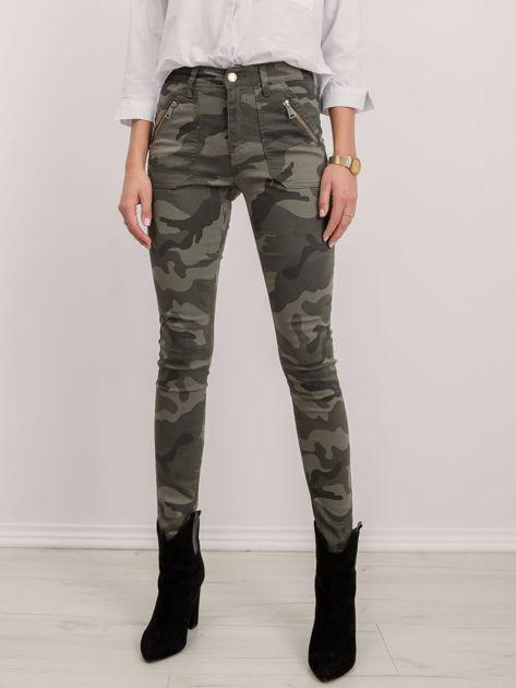 Khaki spodnie Harlow