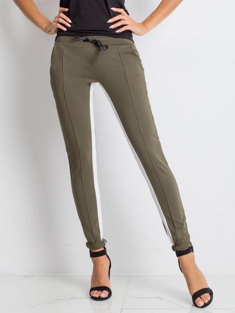 Khaki spodnie dresowe Defined                              zdj.                              1