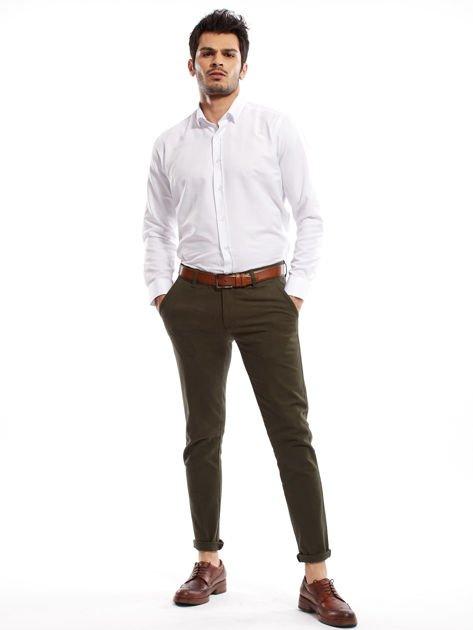 Khaki spodnie męskie chinos                                  zdj.                                  12