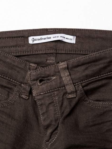 Khaki spodnie typu trash jeans                                  zdj.                                  3