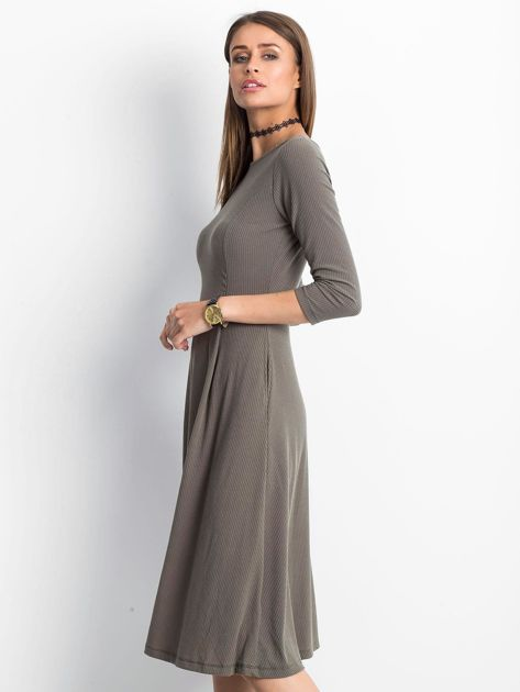 Khaki sukienka Everywhere                              zdj.                              3