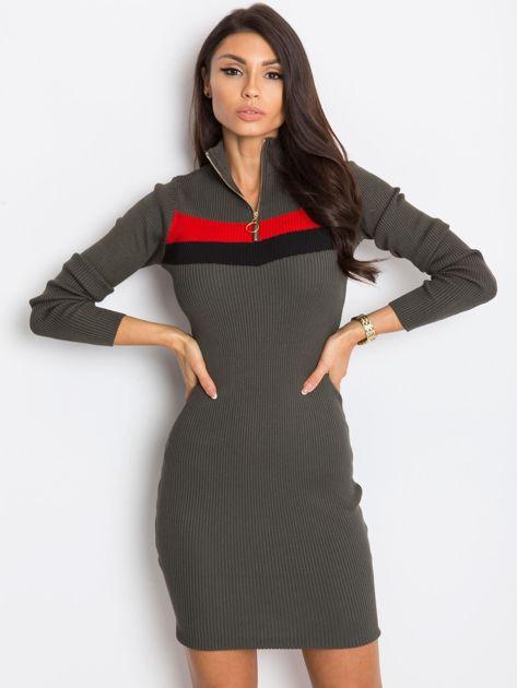 Khaki sukienka Freefall                              zdj.                              7
