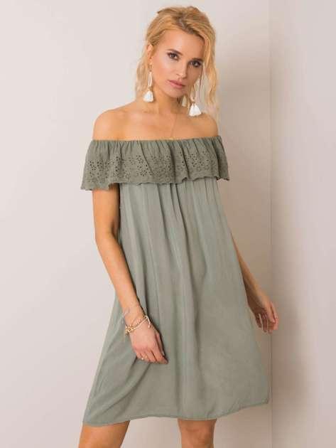 Khaki sukienka Santorini