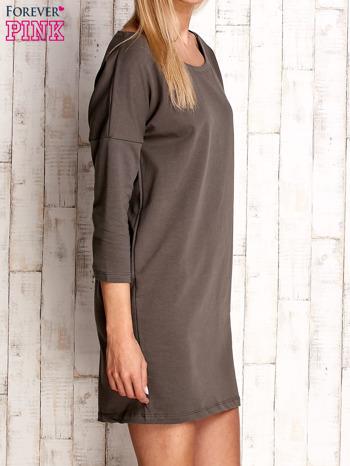 Khaki sukienka oversize                              zdj.                              3