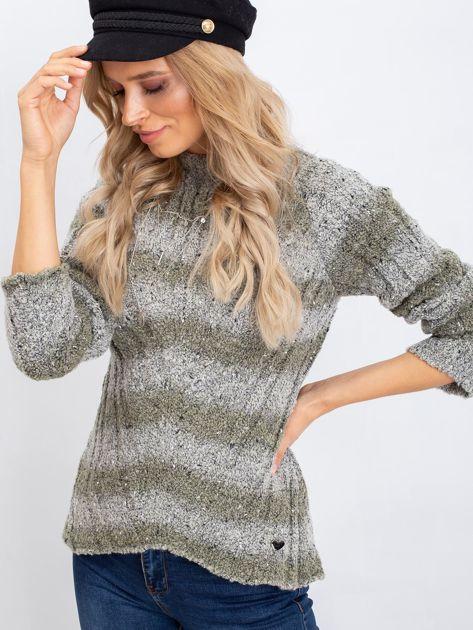 Khaki sweter Fantasy                              zdj.                              1