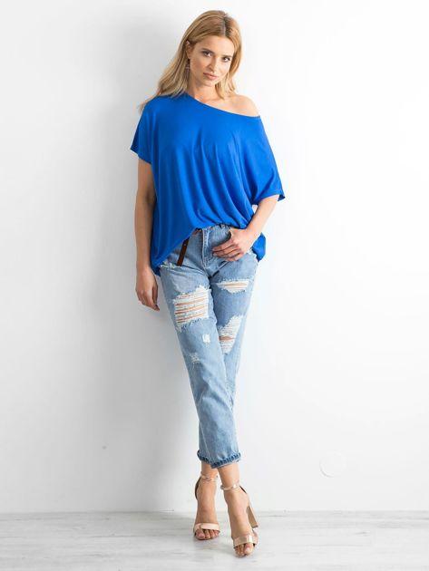 Kobaltowa bluzka Oversize                              zdj.                              4