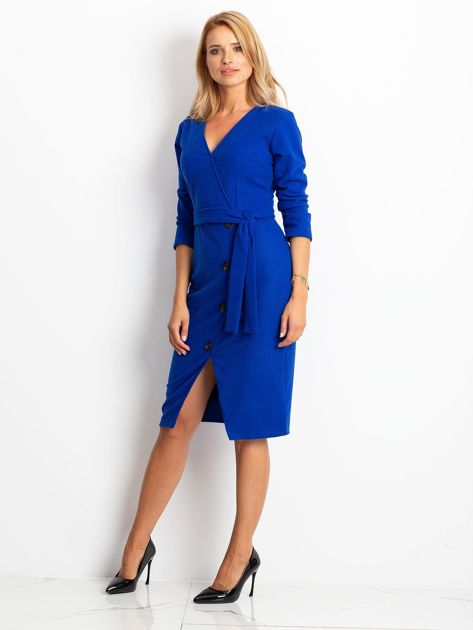Kobaltowa sukienka Future                              zdj.                              3