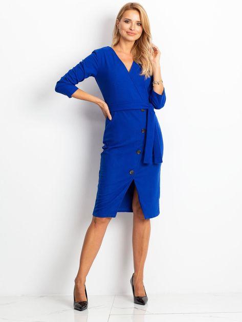 Kobaltowa sukienka Future                              zdj.                              5