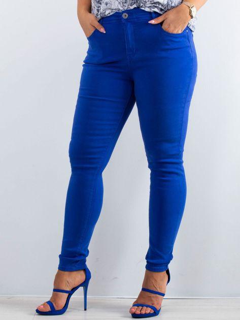 Kobaltowe spodnie North PLUS SIZE                              zdj.                              1
