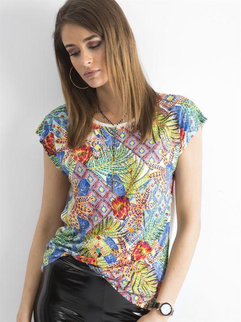 Kolorowa bluzka z aplikacją                              zdj.                              1