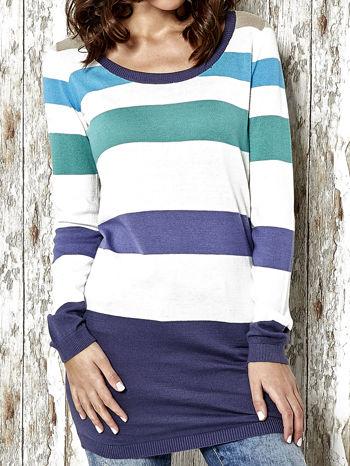 Kolorowy sweter w poziome paski Funk n Soul                                  zdj.                                  5