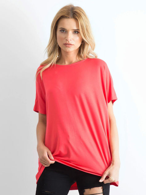 Koralowa bluzka Oversize                              zdj.                              1