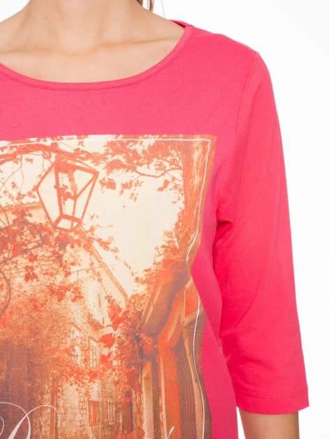 Koralowa bluzka z nadrukiem DREAMS COME TRUE                                  zdj.                                  5