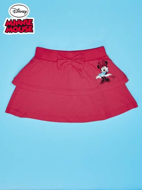 Koralowa spódnica dla dziewczynki z falbanami MINNIE MOUSE                                  zdj.                                  1