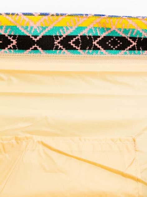 Koralowa torba plażowa w azteckie wzory                                  zdj.                                  9