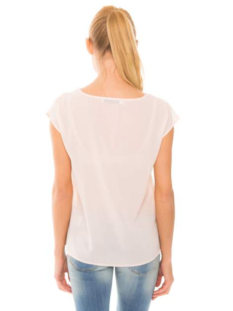 Koralowa transparentna koszula                                  zdj.                                  7