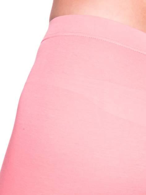 Koralowe bawełniane legginsy 3/4                                  zdj.                                  5