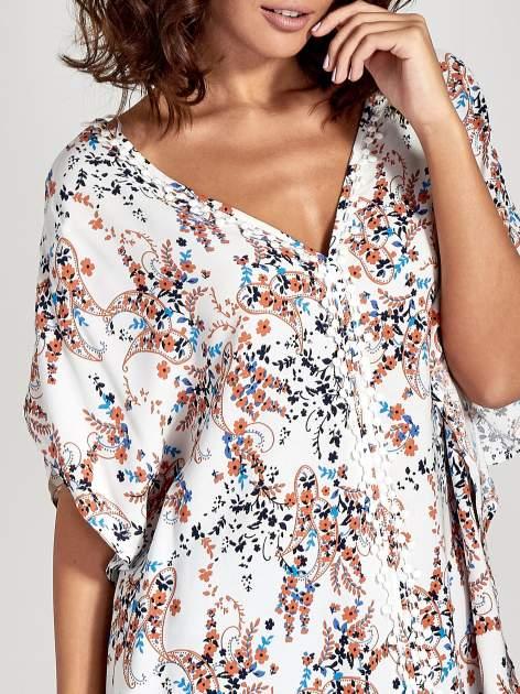 Koszula o kroju oversize we wzór w łączkę                                  zdj.                                  5