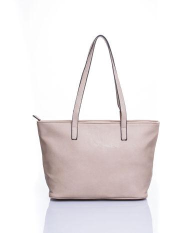 Kremowa prosta torba shopper bag                                  zdj.                                  3