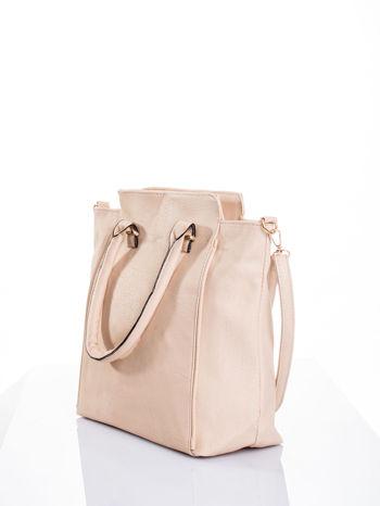 Kremowa torba shopper bag                                  zdj.                                  4