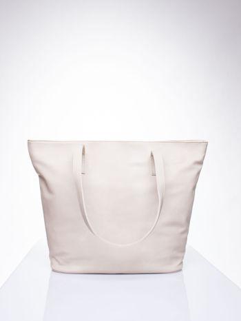 Kremowa torba ze złotym detalem                                  zdj.                                  4