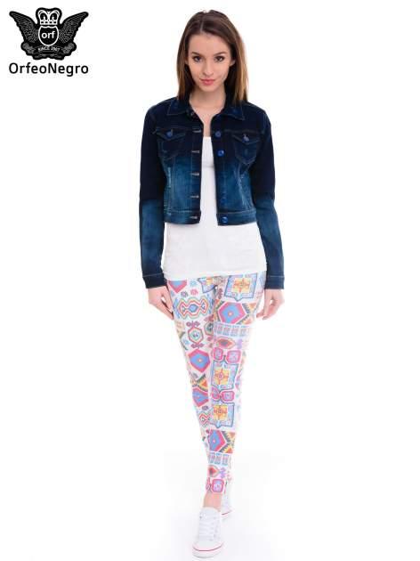 Kurtka jeansowa damska z efektem ombre w kolorze indygo                                  zdj.                                  2
