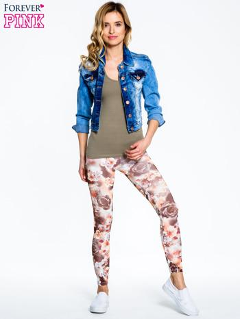 Kwiatowe elastyczne legginsy                                  zdj.                                  8