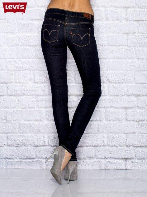 LEVIS Granatowe jeansy skinny                               zdj.                              2