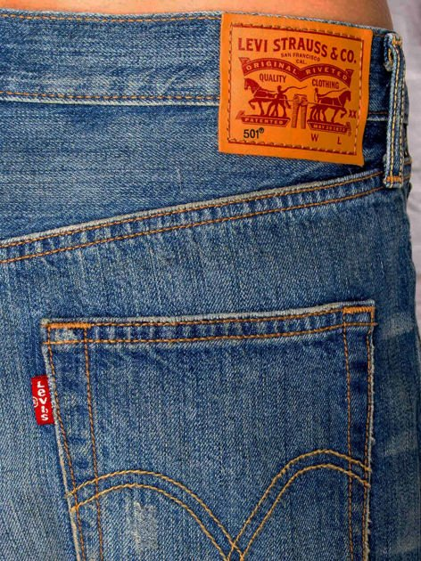 LEVIS Niebieskie jeansowe szorty                               zdj.                              3