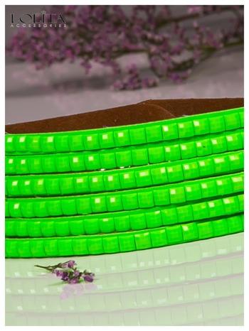 LOLITA Zielona bransoletka skórzana WRAP kryształki cyrkonie BLOGERS HIT                              zdj.                              3