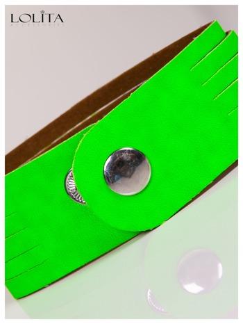 LOLITA Zielona bransoletka skórzana WRAP kryształki cyrkonie BLOGERS HIT                                  zdj.                                  5
