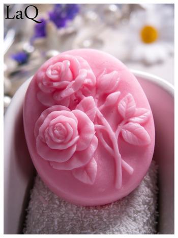 LaQ Mydełko Dwie róże - różowy / Zapach - truskawka BEZ SLS i SLES