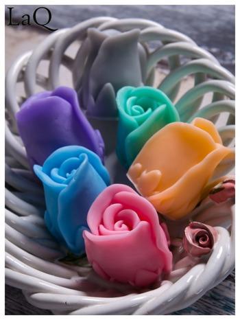 LaQ Mydełko Kwiat róży - pomarańczowy / Zapach - brzoskwinia BEZ SLS i SLES                              zdj.                              3