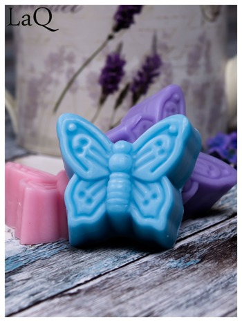 LaQ Mydełko Motylek - niebieski / Zapach - wata cukrowa BEZ SLS i SLES                                  zdj.                                  3