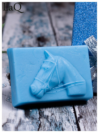 LaQ Mydełko Portret konia - niebieski / Zapach - wata cukrowa BEZ SLS i SLES                                  zdj.                                  2